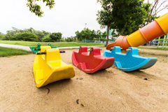 Playgroud στο πάρκο Στοκ εικόνα με δικαίωμα ελεύθερης χρήσης