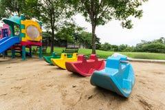 Playgroud στο πάρκο Στοκ φωτογραφία με δικαίωμα ελεύθερης χρήσης