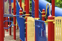 Playground. Colorful playground at a park Stock Photo