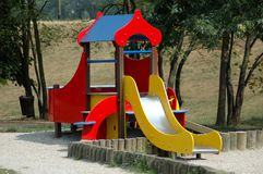 Playground. Toboggan at playground Royalty Free Stock Image