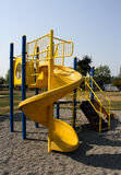 Playground. A slide in the playground at a neighborhood park Royalty Free Stock Image
