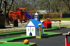 Playground. Miniature Golf Course and Playground Royalty Free Stock Photos