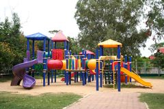 Playground. Colorful playground in the park Stock Images