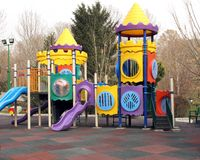 Playground. Colorful children playground in park Stock Photography