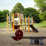 Playground. Medium-format image of a park playground shot on Fuji NPS 160 with a TLR Royalty Free Stock Image