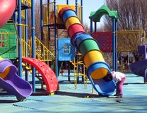 Playground. Colorful children playground in park Stock Image