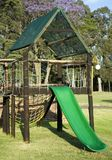 Playground. Kids playground with a slide royalty free stock photography