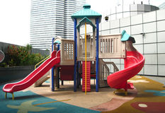 Playground. Public playground on top of a shopping complex Stock Images