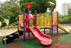 Playground. Colorful playground in a park Royalty Free Stock Photo