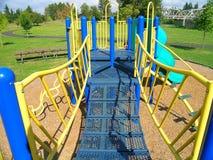 Playground 2. Yellow bars at a playground stock images