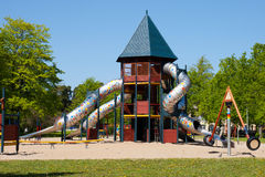Playground. A colorful playground in a park stock images
