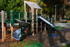 Playground. Equipment at a city park Stock Images