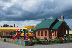 Playground. A colorful playground in a park Royalty Free Stock Photography