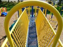 Playground. Yellow bars at a playground royalty free stock photo