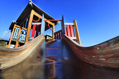Playground. For children with slide Royalty Free Stock Photos