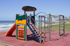 Playground. A colorful playground in seaside Stock Photography