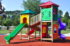 Playground. A colourful children playground equipment Royalty Free Stock Photos