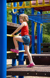 At the playground stock photos