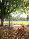 Playground. During fall Stock Image