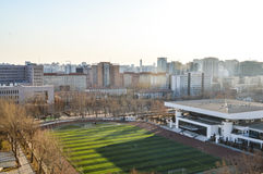 Playground. In Beijing, a college football field in the sunshine Royalty Free Stock Photo