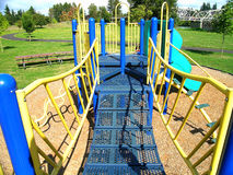 Playground. In blue and yellow royalty free stock photography