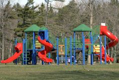 Playground. Play area in a park Stock Photos