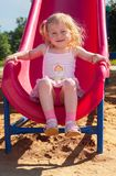 Playground. Little girl play on playground Royalty Free Stock Photos
