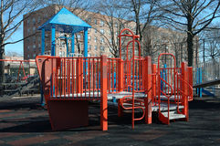 Playground. City playground with building on the background royalty free stock images