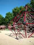 Playground. View of a children's playground stock images