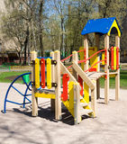 Playground. Photo of colorful playground with nobody Royalty Free Stock Photos