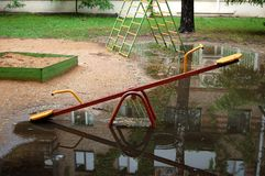Playground. After rain Royalty Free Stock Image