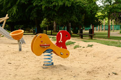 Playground animal toy on spring Stock Images