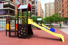 Playground area in city street Stock Image