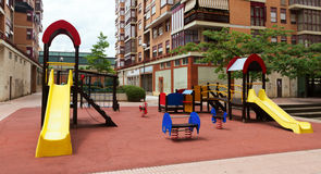 Playground area in cityspace Stock Images