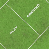 Playground with area and text on grass Royalty Free Stock Images
