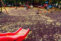 Playground in autumn Stock Photo