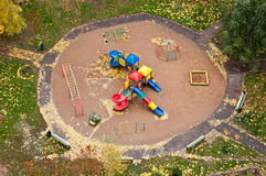 Playground in autumn top view Stock Image