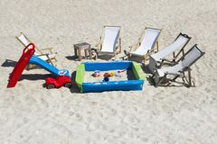 Playground beach Stock Images