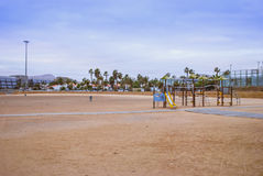 Playground at the Beach Stock Photo