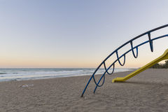 Playground on the beach. Royalty Free Stock Images
