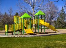 Playground at the Beginning of Spring Royalty Free Stock Images