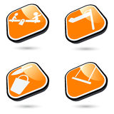 Playground buttons Stock Images