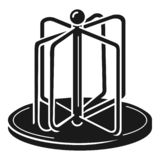 Playground carousel icon, simple style royalty free illustration