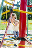On the playground, carousel Stock Photography