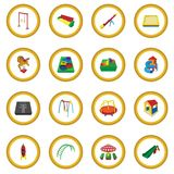 Playground cartoon icon circle. Cartoon isolated vector illustration Stock Photography