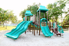 Playground without children. In the park Stock Photography