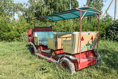 Playground for children, decorative car carriage. Children's fun Royalty Free Stock Photography