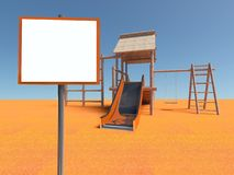 Playground without children with empty frame Royalty Free Stock Photo