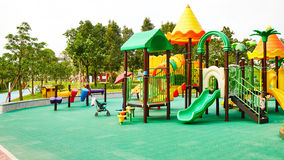 Playground. Children kids playground with play equipment outdoor Royalty Free Stock Images