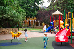 Playground for Children in Park Spain Stock Image
